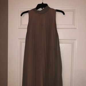 Taupe / coral undertone flowy dress